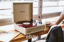 Crosley Vinyl Record Player Voyager Bluetooth 3 Speed Turntable Creme New