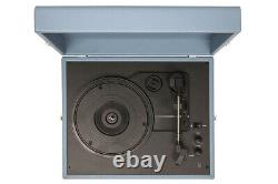 Crosley Voyager Portable Turntable Washed Blue Free Record Crate