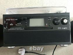 DIGITNOW! Bluetooth Vinyl Record Player Turntable CD Cassette AM/FM Radio MP3