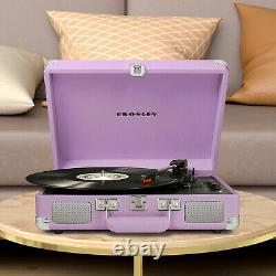 Deluxe Crosley Record Player Turntable 3-Speed Speaker Stereo Bluetooth Portable