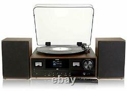 Denver 7-in-1 Vinyl Record Player Hi-Fi System, 2.4 Colour Screen, CD Bluetooth