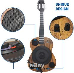 EasyGoProducts Guitars Shaped Vertical Bluetooth Turntable 3 Speed Record Play