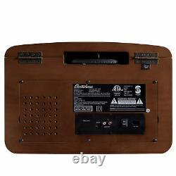 Electrohome Vinyl Record Player Turntable, Bluetooth, Radio, CD, Vinyl to MP3