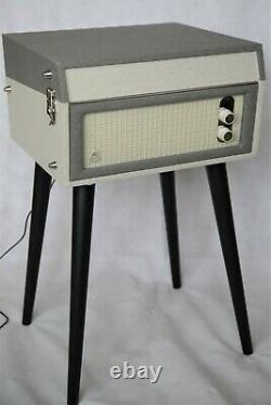 GPO Bermuda 3-Speed Vinyl Record Player Bluetooth, USB Grey / Stone