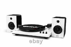 Gemini Bluetooth Vinyl Record Player Stereo Systems Home Turntable With Speakers