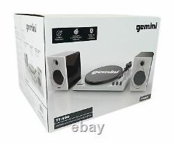 Gemini TT-900 Vinyl Record Player Turntable withBluetooth+Dual Speakers TT-900BW