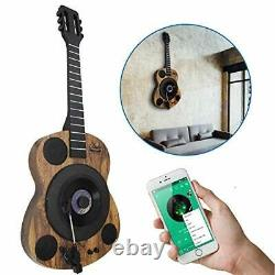 Guitars Shaped Vertical Bluetooth Turntable 3 Speed Record Player Auto