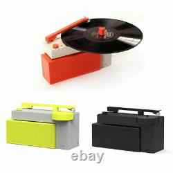 HYM Duo Vinyl Turntable Record Player with Bluetooth Speaker Jet Black