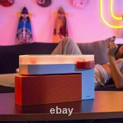 HYM Duo Vinyl Turntable Record Player with Bluetooth Speaker Vibrant Orange
