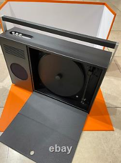 Hermes Boombox Vertical Record Player Speaker Turntable New With Dust Bag
