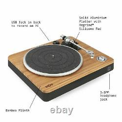 House of Marley Turntable Record Player 33/45 RPM, USB to PC/MAC