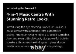 ION Audio Bronco LP Turntable Record Player with Speakers TEAL