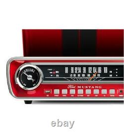 ION MUSTANG LP Record Player Vintage 4-in-1 Radio, USB, AUX with Free Shipping