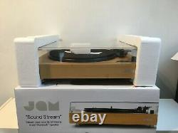 JAM Sound Stream Turntable Wireless Vinyl Record Player with Bluetooth