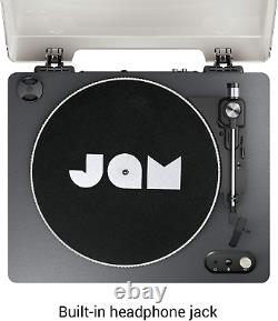 Jam Spun Out Bluetooth Turntable, Vinyl Record Player, 3 Belt Drive for Superior