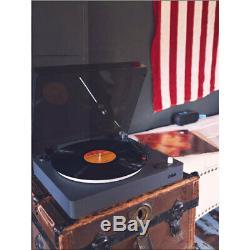 Jam Spun Out Wireless Bluetooth Turntable Vinyl Record Player 33/45/78 RPM Black