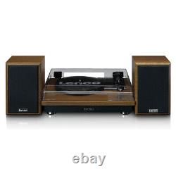 Lenco LS-100WD Turntable with Hi-Fi Speakers Oak Wood Record Player Audio Music
