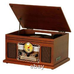 Lenoxx Bluetooth Recording Turntable Music Centre with USB/SD Card/CD/Radio/Vinyl
