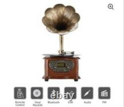 LuguLake Record Player Retro Turntable Vintage Phonograph withBluetooth & more