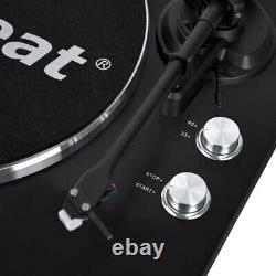 MBeat 42cm Bluetooth Music Vinyl Turntable Record Player Speaker Matte Black