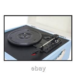 Madison Turntable Record Player Built in Speaker Retro Case on 4 Legs B-Stock