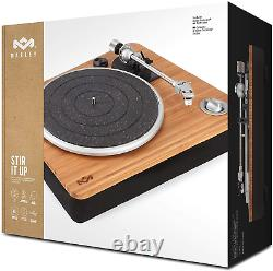 Marley Stir It Up Record Player Sustainably Crafted Bamboo Turntable, High USB