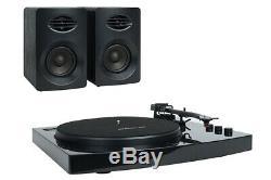 Mbeat Pro-m Bluetooth Turntable Vinyl Record Player System Black