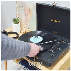 Mbeat Woodstock II Retro Wireless Bluetooth Turntable Record Player Speaker RCA