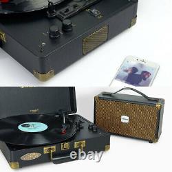 Mbeat Woostock 2 Retro Bluetooth Sound Music Vinyl Turntable Record Player Black