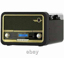 NEW Bush Classic Retro Record Player with CD Player, Bluetooth and Radio TT-1861