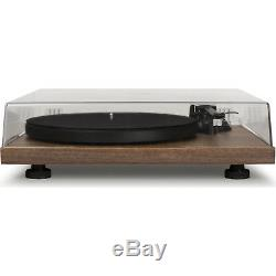 NEW Crosley C6A-WA Pro Series 2 Speed Turntable Record Player Walnut with Cover