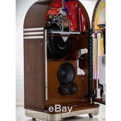 NEW Crosley CR1213A-OA Retro Full Size Vinyl Bubbler Jukebox Oak Record Player