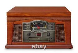 NEW Crosley Lancaster 6-in-1 Entertainment Center Bluetooth Record CD Cassette