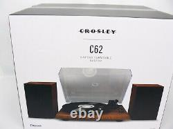 NIB Crosley C62A-WA 2 Speed Bluetooth Turntable Record Player/Speakers System
