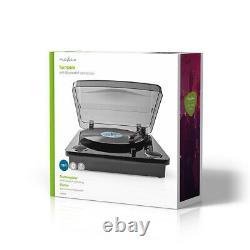 Nedis 3 Speed Retro Vinyl LP Record Player Turntable 33 1/3 45 78 RPM Bluetooth