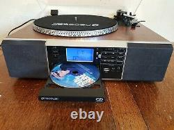 Neostar TCDR-30C Turntable, CD Recorder Tape, Radio, MP3 USB Bluetooth Player