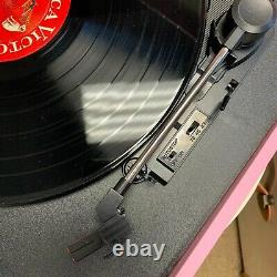 New Arkrocket Bluetooth Record Player Retro turntable removable legs 3 Speed