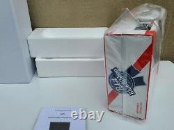 Pabst Blue Ribbon PBR Beer Suitcase Turntable Record Player withBluetooth -New