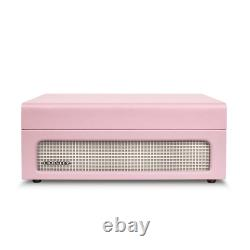 Pink Amethyst Record Player/Turntable, Vintage Inspired, Bluetooth Digital Music