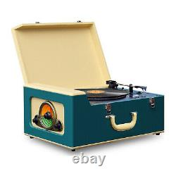 Pyle Bluetooth Vintage Classic Style Turntable Speaker System Record Player