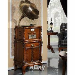 RAPLANC Retro Horn Turntable Bluetooth Vinyl Record Player, Classic Gramophone