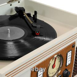 Record Player 3 Speed Bluetooth Turntable CD Stereo FM Radio Portable
