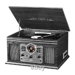 Record Player 6-in-1 Nostalgic with 3-speed Turntable with CD Victrola