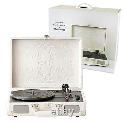 Record Player Portable Turntable Crosley Deluxe 3-Speed Speaker Stereo Bluetooth