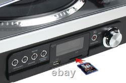 Record Player Turntable 18W Bluetooth USB Conversion Dust Cover