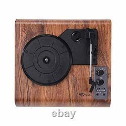 Record Player VOKSUN Vintage Turntable 3-Speed Bluetooth Vinyl Player LP Reco
