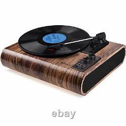 Record Player, Vintage Turntable 3-Speed Bluetooth Vinyl Player LP Record