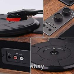 Record Player, Vintage Turntable Bluetooth Vinyl Player LP Record Player 3 Speed