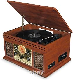 Record Player Vinyl Turntable Speakers USB MP3/ Bluetooth/ FM Assorted Colors UK
