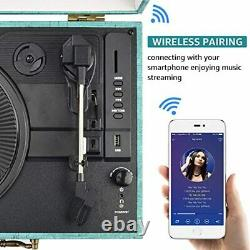 Record Player Vinyl player Turntable Bluetooth USB with Built in Stereo Speakers